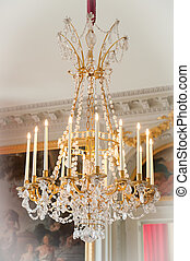 Versailles - chandelier with candles