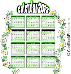 calendar 2012 - illustration