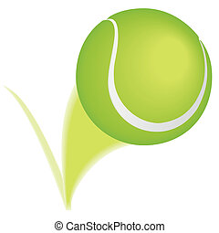 Tennis ball bounce - Tennis ball taking a bounce and leaving...