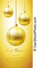 Merry Christmas card - Merry Christmas greeting card with...