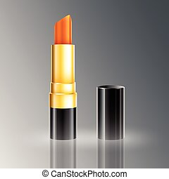 Elegant Red Lipstick - Elegant red lipstick beauty makeup