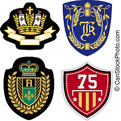royal emblem badge set