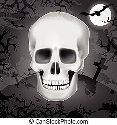 Halloween human skull background