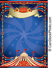 Circus night poster - A blue circus background for a poster