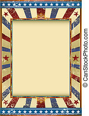 grunge american circus - Old Grunge Image with a frame....