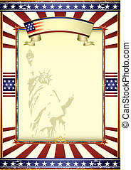 Poster of liberty - A poster with the statue of liberty