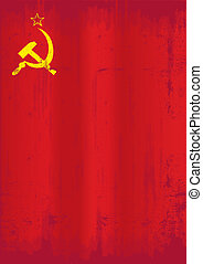 Soviet union grunge flag - A dirty soviet flag for a...