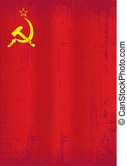 Soviet union grunge flag - A dirty soviet flag for a...