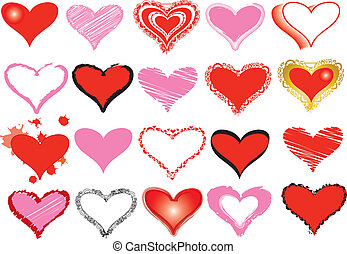 Set of hearts for the valentine's day