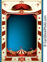circus - A circus poster with a big top by night for you...