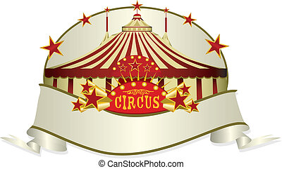 circus ribbon - A circus ribbon. Read your message in the...