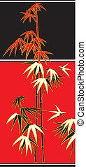 bamboo, cane vector - branches or bamboo cane