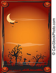 halloween poster - A background on halloween theme for a...
