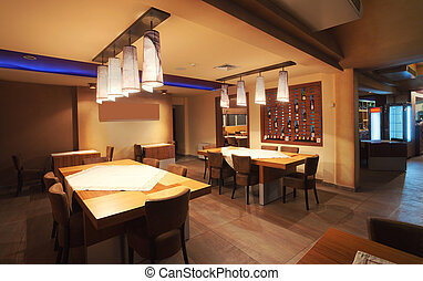 Restaurant interior - Interior of a modern restaurant,...