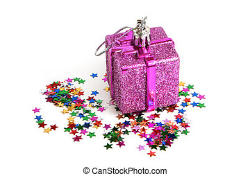 Christmas toy with confetti