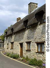 Corfe Castle Village - Street in Corfe Castle village on...