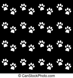 Background with white paw prints