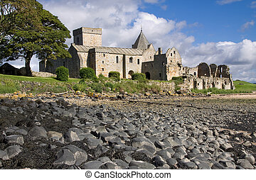 Inchcolm Island Abbey - Inchcolm Abbey on the island of...