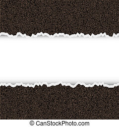 Vector torn piece of rough paper with place for your text