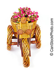 vase with flowers - Decorative  bicycle vase with flowers