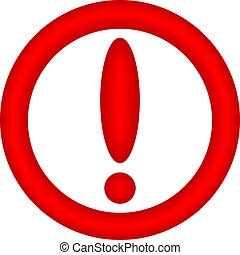 Attention sign on white background - vector