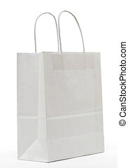 ShoppingBag in White - White paper shopping bag on a white...