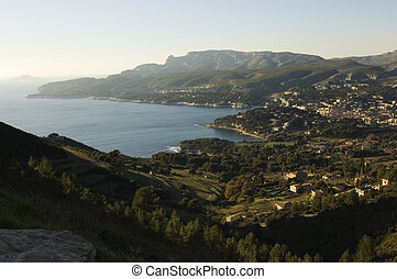 Overview of the Bay of Cassis