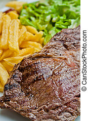 steak beef meat - juicy steak beef meat with tomato and...