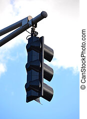 Black Hanging Traffic Signal