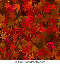 Fall Maple Leaves Seamless Background - Colorful Fall Maples...