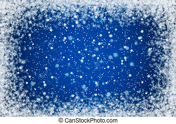 Blue Night Sky with Stars and Snow - Pretty Blue Night Sky...