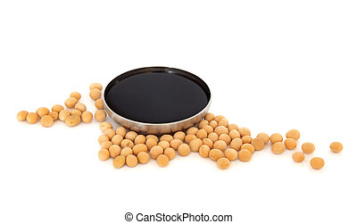 Soya Beans and Soy Sauce - Soya beans with dark soy sauce in...