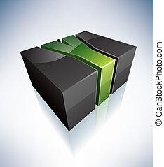 Three-dimensional Y Letter