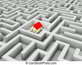 Home in the middle of the maze