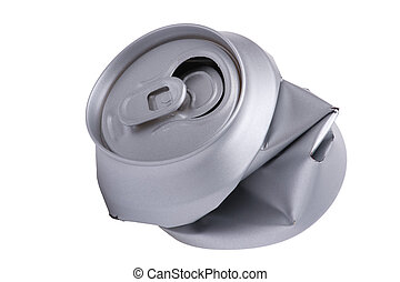 Crumpled beverage can