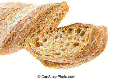 Bread isolated on the white background