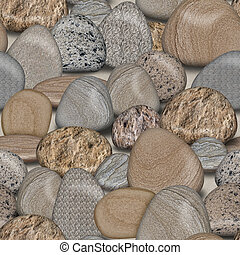Pebble Rocks Seamless Tile Background - Pebble Rocks...