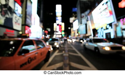 Times Square - Blurred view of Times Square