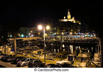 Landscape of Monaco of Night - Landscape of Monaco of night...