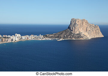 View of Mediterranean resort Calpe, Costa-Blanca Spain