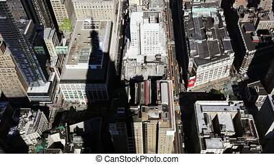 Manhattan - Looking down on Manhattan from the Empire State...