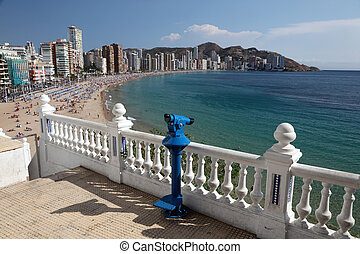 View of the Mediterranean resort Benidorm, Spain, Photo...