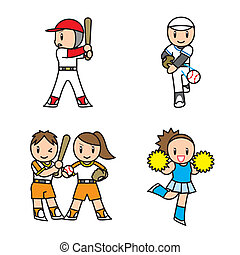 Sport Set - This is an illustration of those who are playing...