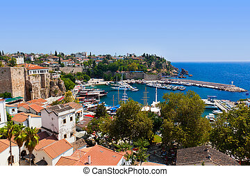 Old town Kaleici in Antalya, Turkey - travel background