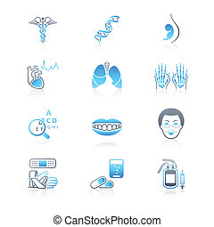medicina, ícones, |, marinho, série