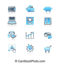 Money matters icons | MARINE series - All about earning,...