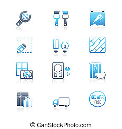 Home repair icons | MARINE series - Home repair, remodeling,...