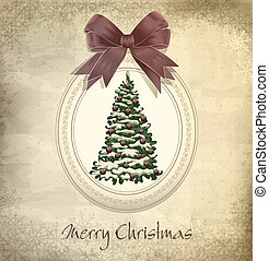 holiday, vintage, grungy Christmas background with Christ