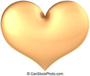 Heart shape golden classic