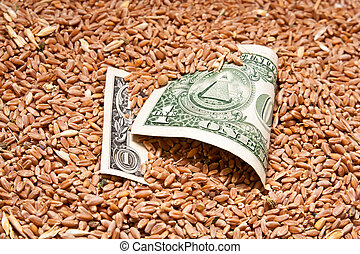 one dollar in wheat